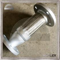 Reducing braided flexible pump connectors