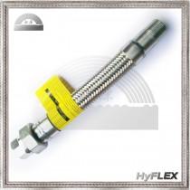 Flexible Metal Hose, Braided Pump Connector, Male NPT, Union End